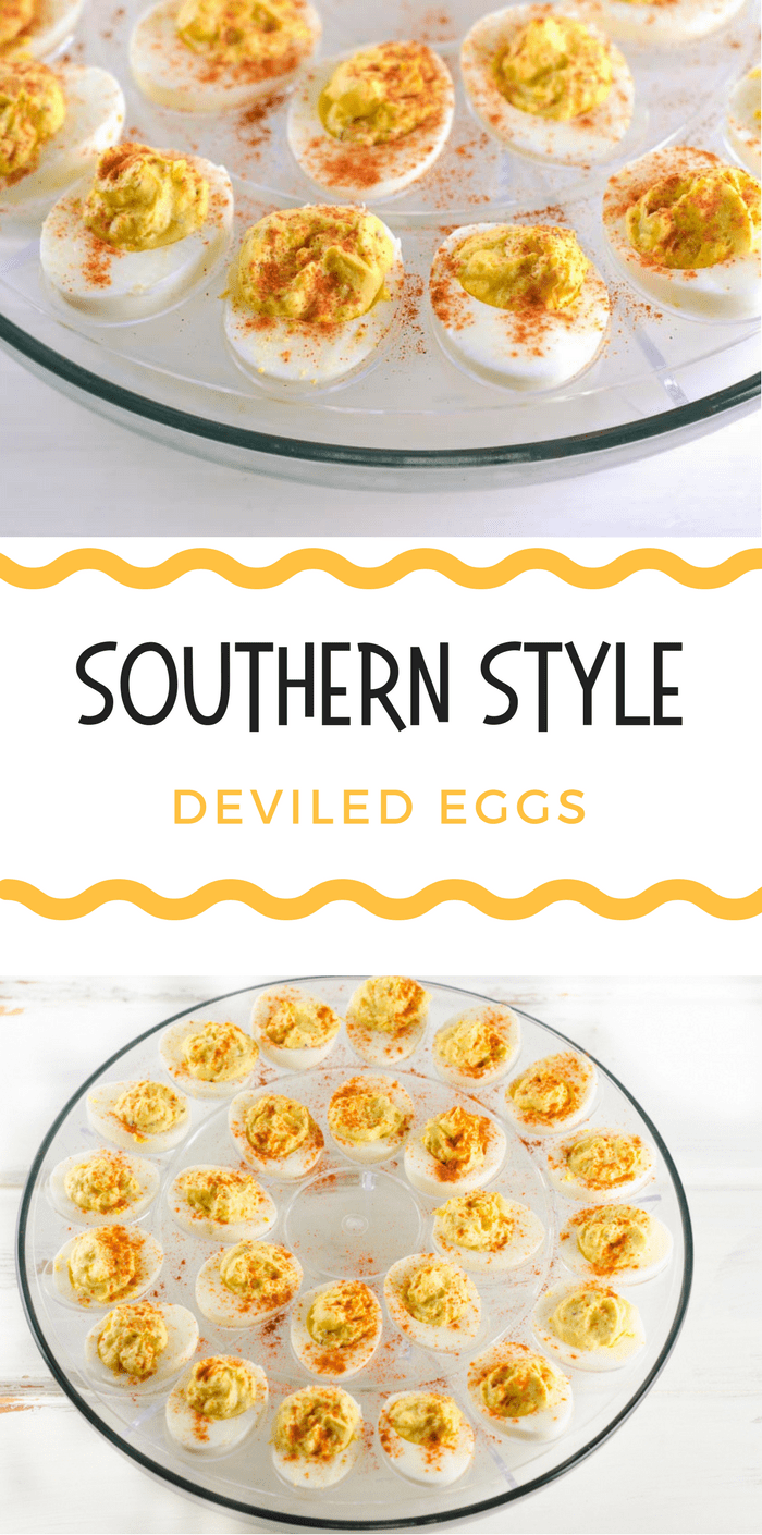 Southern Style Deviled Eggs Recipe - This super easy southern appetizer is always one of the first to go at any cookout or gathering.