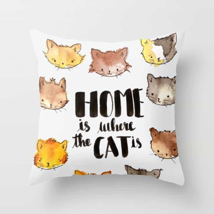 Throw Pillow Home Is Where The Doodle Is : Throw Pillows Perfect For Animal Lovers - Cat Throw Pillows And More
