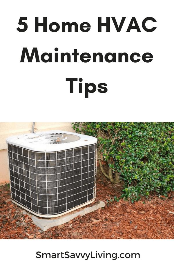 5 Home HVAC Maintenance Tips pinterest picture
