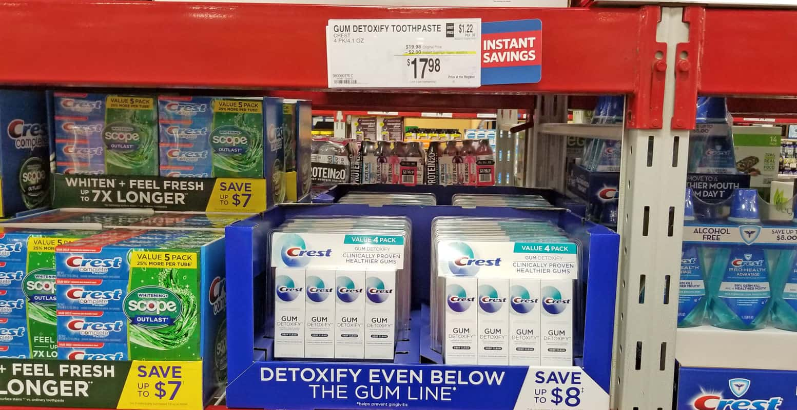 How To Improve Gum Health And Why It's Important with Crest Gum Detoxify In-store at Sam's Club